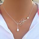 billige Halskjeder-Dame Perle Lariat Strands halskjede / Perlehalskjede - Perle, Imitert Perle Dråpe damer, Mote Halskjeder Smykker Til Bryllup, Fest, Daglig