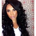 Χαμηλού Κόστους Μακιγιάζ και περιποίηση νυχιών-Συνθετικές Περούκες Κυματιστό Συνθετικά μαλλιά Μαύρο Περούκα Γυναικεία Μακρύ Χωρίς κάλυμμα