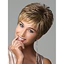 billige Mode Halskæde-Syntetiske parykker Bølget / Europæisk Stil Pixie frisure Lågløs Paryk Blond Blond Regnbue Syntetisk hår Dame European Weave Blond Paryk Kort Naturlig paryk