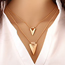 hesapli Kolyeler-Kadın's katmanlı Kolyeler - Kişiselleştirilmiş, Temel, Avrupa Altın Kolyeler Mücevher Uyumluluk Özel Anlar, Doğumgünü, Hediye