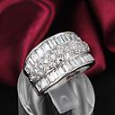 ieftine Machiaj & Îngrijire Unghii-Pentru femei Band Ring femei Plastic Zirconiu Ștras Inele la Modă Bijuterii Argintiu Pentru Nuntă Petrecere Zilnic Casual 6 / 7 / 8 / Argilă / Argilă