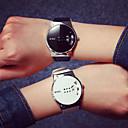 levne Pánské-Pánské Náramkové hodinky Digitální Z umělé kůže Černá / Bílá Voděodolné Hodinky na běžné nošení Cool Digitální Na běžné nošení - Bílá Černá / Nerez