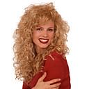 hesapli Makyaj ve Tırnak Bakımı-Sentetik Peruklar Bukle Sarışın Sentetik Saç Sarışın Peruk Kadın's Uzun Bonesiz Sarışın