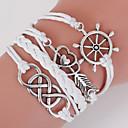 preiswerte Armbänder-Herrn Damen Wickelarmbänder loom-Armband - Liebe, Anker Böhmische, Doppelschicht Armbänder Weiß Für Alltag Normal