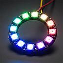 hesapli Modüller-ws2812 5050 rgb yuvarlak lamba geliştirme kurulu 12 liderliğindeki - siyah