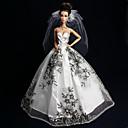 ieftine Haine Păpușă Barbie-Rochie de papusa Nuntă Pentru Barbie Dantelă organza Rochie Pentru Fata lui păpușă de jucărie