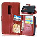 cheap Universal Cases & Bags-Case For LG LG Case Card Holder Wallet with Stand Flip Solid Color Hard for