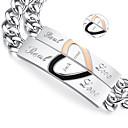 economico Accessori moda personalizzati-regali di San Valentino gioielli amanti d'acciaio di titanio personalizzato oro / braccialetti neri (una coppia)