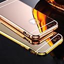 hesapli Yüzükler-Pouzdro Uyumluluk iPhone 5 Apple iPhone 5 Kılıf Kaplama Ayna Arka Kapak Tek Renk Sert Arkilik için iPhone SE/5s iPhone 5