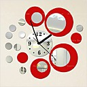 cheap Bathroom Gadgets-Wall Clock,Fashion Acryic / Polyester Round / Decorative Wall Stickers / Clock Stickers / Removable