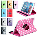 cheap iPad  Cases / Covers-DE JI Case For Apple with Stand / Auto Sleep / Wake / 360° Rotation Full Body Cases Tile PU Leather for iPad Mini 3/2/1