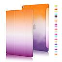 hesapli Tamir Gereçleri-Pouzdro Uyumluluk iPad Air 2 Origami Tam Kaplama Kılıf Renkli Gradyan PU Deri için iPad Air 2