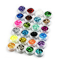 hesapli Makyaj ve Tırnak Bakımı-24 pcs Nail Jewelry / Dekorasyon Setleri / Payetler Moda Sevimli Günlük Tırnak Tasarımı Tasarımı / Plastik