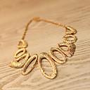 Buy Women's Exaggeration Water Drop Pattern Geometry Irregular Metal Necklace 1pc