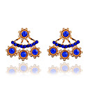 Buy Drop Earrings Crystal Pearl Resin Rhinestone 18K gold Simulated Diamond Alloy Fashion White Blue Light Jewelry
