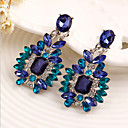 cheap Necklaces-Women's Crystal Drop Earrings - Cubic Zirconia Luxury Blue For