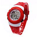 hesapli Kadın Saatleri-Çocuklar için Spor Saat / Moda Saat / Dijital saat Japonca Alarm / Takvim / Kronograf Plastic Bant Havalı Siyah / Mavi / Kırmızı / LCD / Bir yıl