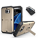 hesapli Samsung İçin Ekran Koruyucuları-DE JI Pouzdro Uyumluluk Samsung Galaxy Samsung Galaxy Kılıf Şoka Dayanıklı / Satandlı Arka Kapak Zırh PC için S7 / S6