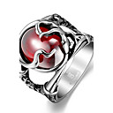 cheap Rings-Men's Statement Ring - Stainless Steel, Zircon, Cubic Zirconia Skull Unique Design, Fashion 8 / 9 / 10 Red For Christmas Gifts