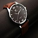 hesapli Kişiselleştirilmiş Yenilikçi Ürünler-Erkek Bilek Saati Gündelik Saatler Deri Bant İhtişam Siyah / Kahverengi