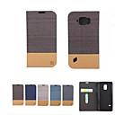 رخيصةأون حافظات / جرابات هواتف جالكسي S-غطاء من أجل Samsung Galaxy حالة سامسونج غالاكسي حامل البطاقات محفظة مع حامل قلب غطاء كامل للجسم لون الصلبة ناعم جلد PU إلى S8 Plus S8 S7