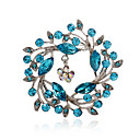 cheap Brooches-Women's - Rhinestone, Imitation Diamond Luxury, European, Fashion Brooch Pink / Navy / Light Blue For Party / Daily / Casual