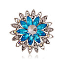 cheap Brooches-Women's - Rhinestone, Imitation Diamond Luxury, European, Fashion Brooch Purple / Coffee / Blue For Wedding / Party / Daily