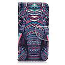 preiswerte Bekleidung & Accessoires für Hunde-Hülle Für Samsung Galaxy Samsung Galaxy S7 Edge Kreditkartenfächer Geldbeutel mit Halterung Flipbare Hülle Ganzkörper-Gehäuse Elefant
