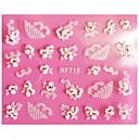 ieftine Decal De Transfer De Apă-1 pcs 3D Acțibilduri de Unghii Lace Stickers nail art pedichiura si manichiura Abstract / Modă Zilnic / 3D pentru autocolante