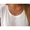 hesapli Kolyeler-Kadın's Kristal Boncuklar Uçlu Kolyeler - Avrupa, minimalist tarzı, Moda Gümüş, Altın Kolyeler Mücevher Uyumluluk Parti, Günlük