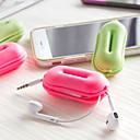 preiswerte Bürobedarf-Aufgeblasene Matte Kopfhörerhalter / Cable Winder Kulturtasche für Kulturtasche Gummi