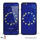 hesapli iPhone Stickerları-1 parça Tam Kaplama Ekran Koruyucular için Bayrak iPhone 6s/6