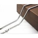 hesapli Kolyeler-Erkek Zincir Kolyeler - Titanyum Çelik Gümüş Kolyeler Mücevher Uyumluluk Yılbaşı Hediyeleri, Günlük