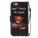 cheap Bracelets-Case For Apple iPhone 6 iPhone 6 Plus Card Holder Wallet with Stand Flip Pattern Full Body Cases Word / Phrase Hard PU Leather for iPhone