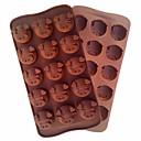 billige Utstyr til kaffe-gris hodet mold verktøy kake mold fleksibel silikon mold for godteri sjokolade baking