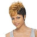 preiswerte Make-up & Nagelpflege-Synthetische Perücken Damen Locken Blond Pixie-Schnitt / Mit Pony Synthetische Haare 6 Zoll Blond Perücke Kurz Kappenlos Blondine Rot Grau hairjoy