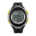 رخيصةأون ساعات الرجال-رجالي ساعة رياضية ساعة المعصم ساعة رقمية رقمي جلد اصطناعي أسود 30 m مقاوم للماء المنبه رزنامه رقمي ترف - أسود أصفر سنتان عمر البطارية / الكرونوغراف / LED / Maxell626 + 2025