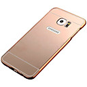 baratos Capinhas para Galaxy Série S-Capinha Para Samsung Galaxy Samsung Galaxy S7 Edge Galvanizado / Espelho Capa traseira Sólido PC para S7 edge / S7 / S6 edge