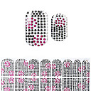 preiswerte Make-up & Nagelpflege-schönen schwarzen Korea DIY Diamant 3d Nagel Aufkleber
