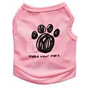 cheap Dog Clothing & Accessories-Cat Dog Shirt / T-Shirt Dog Clothes Floral / Botanical Black Blue Pink Terylene Costume For Pets Men's Women's Fashion