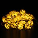 tanie Taśmy świetlne LED-5 m Łańcuchy świetlne 20 Diody LED Dip LED Ciepła biel Dekoracyjna / Możliwość połączenia / Słodkie 220-240 V 1 zestaw