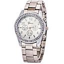 levne Chytré hodinky-Dámské Luxusní hodinky Náramkové hodinky Diamond Watch Křemenný Nerez Stříbro / Zlatá Hodinky na běžné nošení imitace Diamond Analogové dámy Přívěšky Módní - Stříbrná Zlatá Růžové zlato