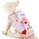 hesapli Köpek Giyim ve Aksesuarları-Köpek Vesta Köpek Giyimi Karton Pamuk Kostüm Evcil hayvanlar için Kadın's Günlük/Sade