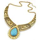 hesapli Saat Aksesuarları-Kadın's Açıklama Kolye - Reçine Damla İfade, Vintage, Avrupa Gümüş, Altın Kolyeler Mücevher Uyumluluk Parti, Günlük