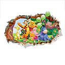 preiswerte Backzubehör & Geräte-Tiere Cartoon Design Wand-Sticker 3D Wand Sticker Dekorative Wand Sticker, PVC Haus Dekoration Wandtattoo Wand