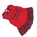 tanie Ubranka i akcesoria dla psów-Psy Sukienka Ubrania dla psów Czarny / Czerwony Bawełna Kostium Na Lato
