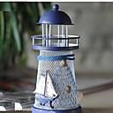 abordables LED à Double Broches-Figurines méditerranéennes étincelantes océan étain phare mode artisanat en métal romantique couple cadeaux de mariage