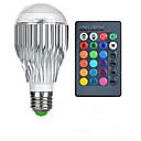 billige LED-kolbepærer-1pc 10 W 750 lm E26 / E27 Smart LED-lampe 1 LED Perler Højeffekts-LED Fjernstyret / Dekorativ / Farvegradient RGB 85-265 V / 1 stk. / RoHs