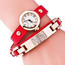 preiswerte Ohrringe-Damen Armband-Uhr Quartz Schlussverkauf Legierung Band Analog Charme Modisch Schwarz / Blau / Rot - Golden Hellblau Königsblau