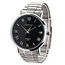 preiswerte Damenuhren-YAZOLE Damen Kleideruhr Armbanduhren für den Alltag Edelstahl Band Silber